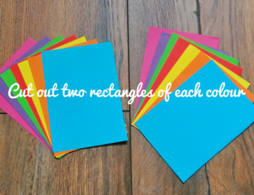 Cut out two rectangles of each colour