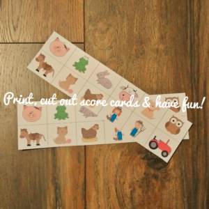 Print and cut out score cards